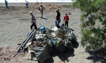 Cleaning Mirtos Beach